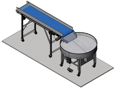Conveyor Work Station Turntable
