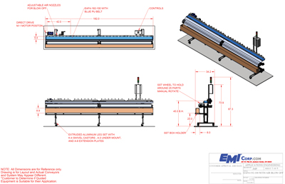 Extrusion Take Away with catch tray