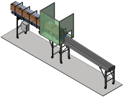 Precise Box Positioning inline Conveyor Systems