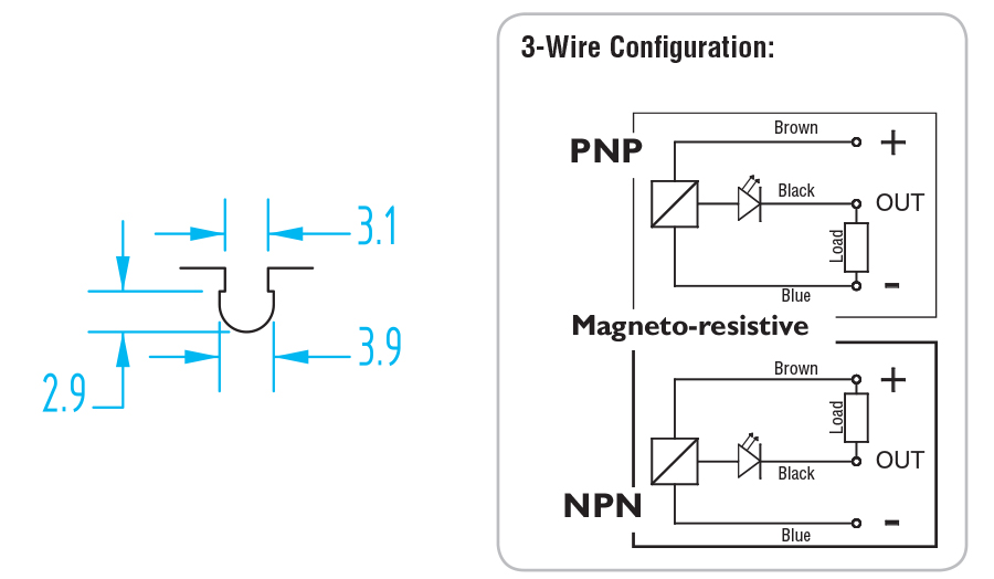 6600 Gimatic C-Slot PNP/NPN Sensor - SS1C225 G