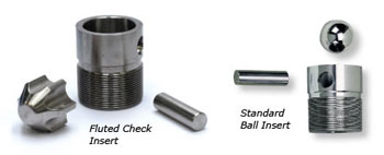 Ball Check Valve Replacement Inserts