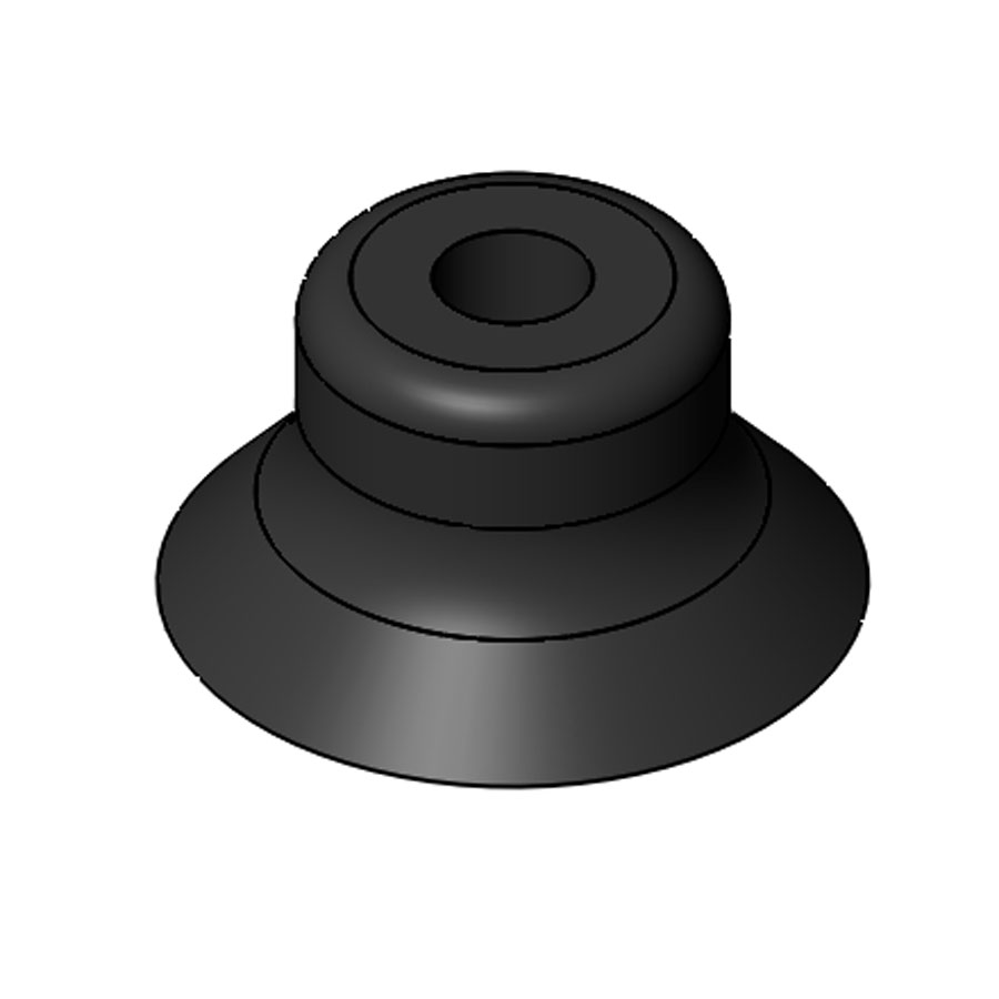 Vacuum Pad Flat With Ribs 25mm