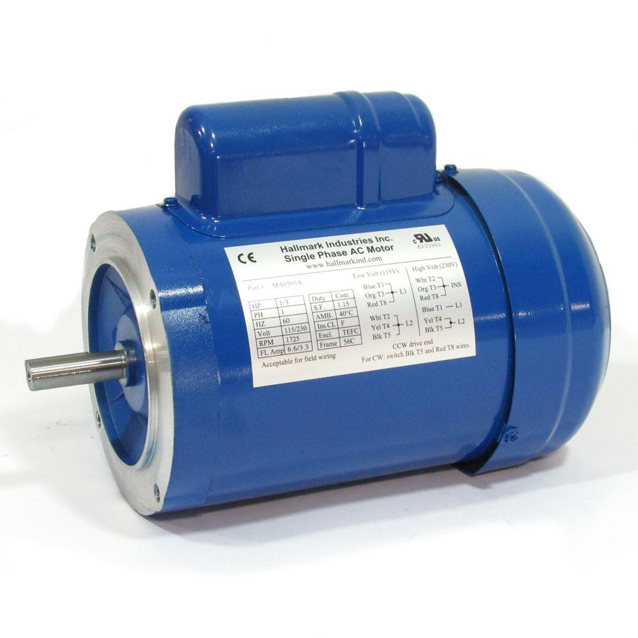 1/3 HP Hallmark AC Motor - EL 116HM