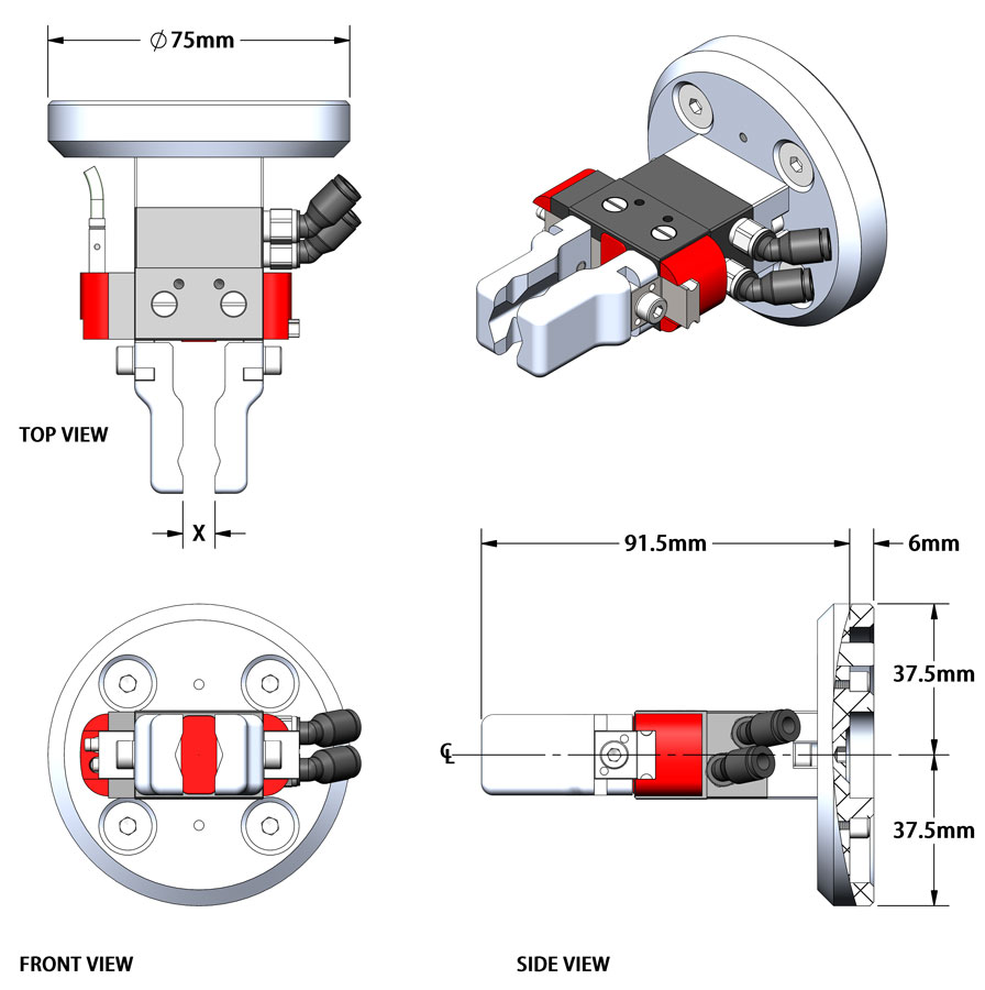 8001 SGPS Compact Parallel Gripper Kit for Industrial Cobots