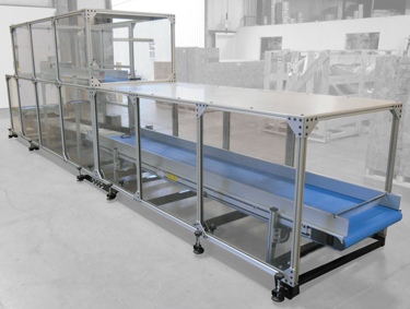Conveyor Systems with Enclosure Cages