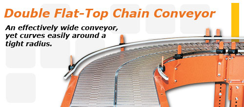 Flat-Top Chain Conveyors, Steel Frame