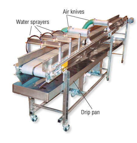 Hybrid / Air Knife Parts Cooling Conveyors