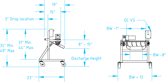 Auger Separator dimensional drawing